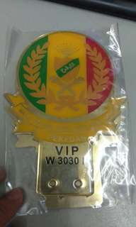 PEKedah Custom Car Gold Plated Emblem Badge Logo for Number Plate