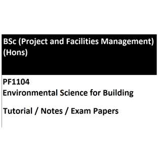PF1104 Environmental Science for Building