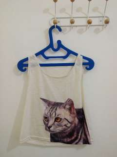 Tank top kucing crop