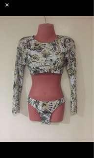 Long Sleeves Rashguard Swimwear Swimsuit