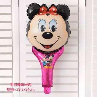 B23 birthday party balloons Minnie handheld
