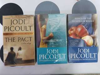 1) The Pact  2) Vanishing Acts. 3) Songs of the Humpback Whale by Jodi Picoult