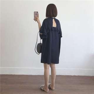 🚚 《早·衣服》5月愛❤️超顯白超舒適心機顯瘦露背花瓣荷葉邊洋裝背帶裙(預)