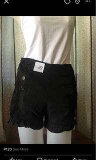 cotton zipper shorts