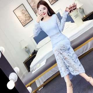 LONG DINNER DRESS ( pre-order 180413) LIMITED OFFER