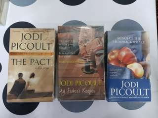 1) The Pact. 2) My Sister's Keeper. 3) Songs of the Humpback Whale by Jodi Picoult