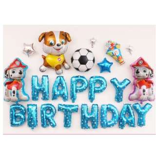 (In Stock)Paw Patrol Theme Party Decoration Set-Happy Birthday
