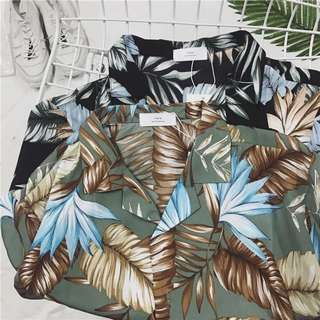 Unisex Hawaiian Two Colour Shirt