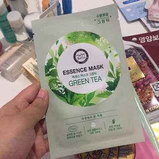 Kbeauty: Happy Bath Green Tea Essence Mask