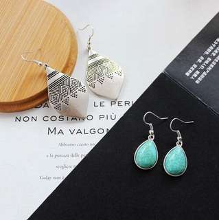 E59 Vintage Water Drop Earrings