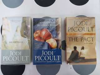 1) The Pact  2) Salem Falls. 3) Songs of the Humpback Whale by Jodi Picoult