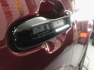Car handle glossy black wrap
