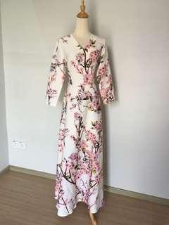 Floral Sakura maxi dress