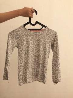 Grey leopard's pattern