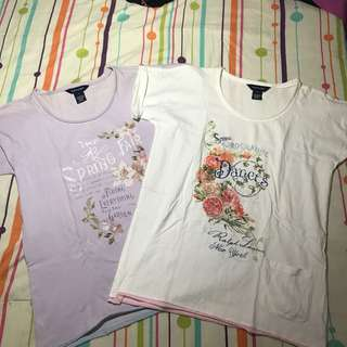 RALPH LAUREN White and Lavander Shirt