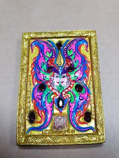 Kruba Krissana Thep Roman Jumbo with real gold takruts and real rubies