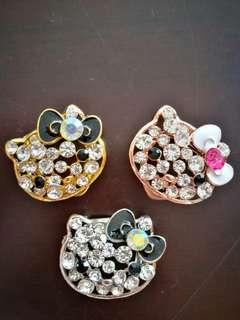 Brooch Ring/ Cincin Tudung Hello Kitty