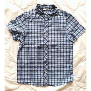 PRELOVED H&M BLUE CHECKERED SHIRT BOYS
