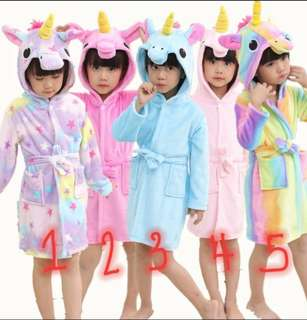 Unicorn Hooded Bathrobe / Towel