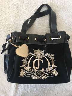 Juicy Couture Black Velvet Bag