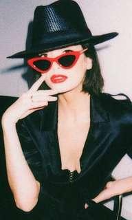 Gigi Red Cat Eye Sunglasses