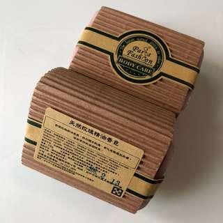 台灣 Paris Fragrance 巴黎香氛 天然玫瑰精油香皂 番梘