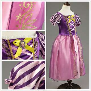 Disney Princess Rapunzel Party Dress Girl Dress Costume