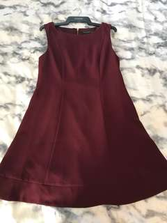 Forever New Red Wine Cocktail Dress