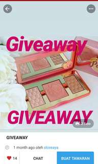 Give away by @storeaya
