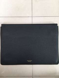 OROTON 15 inch leather laptop sleeve