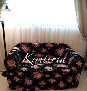 ☑️💯Brand new Black floral sofa cover (2 and 3 seaters)