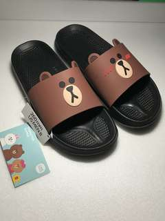 Korea Line Friends - Brown Slipper Size 26cm /Men 8 (Original)