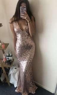 Flattering full sequin gown