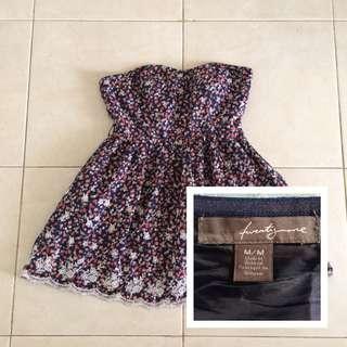 Unshoulder Flower Dress