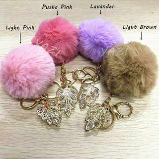 Fur Ball Keychains with Design