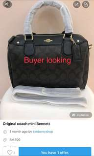 Looking for coach buyer