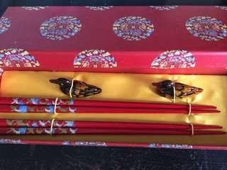 NEW Chopsticks Set (Red)