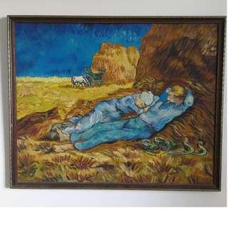 Vincent Van Gogh- The Siesta  (reproduction, Oil Canvas)