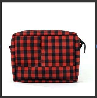 日本RING+ 紅色格仔袋,防水耐用