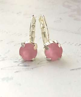 Swarovski Matt Rose Pink Earrings