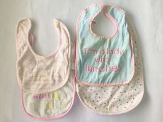 Take all baby girl bibs