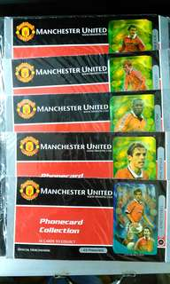 Rare, Vintage, Unused Manchester United Collectible Phone Card.( Price is for one item).