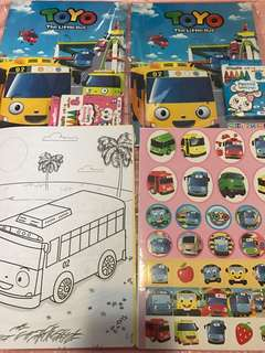 Limited Stock Tayo Coloring And Stickers Book Brand New  .. with crayon set -$5.20