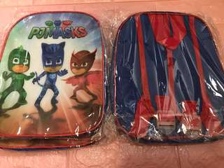 Toddler pj mask bag small size ht 25cm wt 20cm brand new
