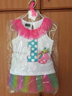 Baby Girl Dress with Pom Pom