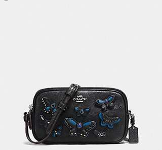 AUTHENTIC COACH CROSSBODY POUCH  ( F59070 )