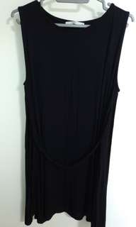 Eve black dress with cape