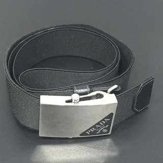 'AUTHENTIC' PRADA Men's Black Buckle Logo Belt 90cm