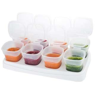 New BPA Free Microwavable Baby Food Storage Cups Set of 8 Cups 70 ml