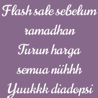 Flash Sale Sebelum Ramadhan